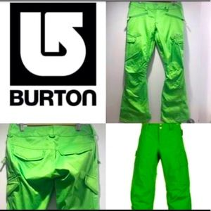 BURTON Womens Dry Ride Green Snowpants
